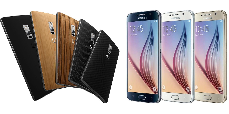 OnePlus Two versus Samsung Galaxy S6 1