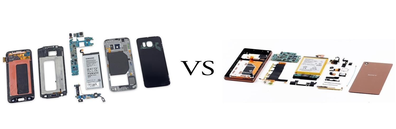Samsung Galaxy S6 versus Sony Xperia Z3+ 4