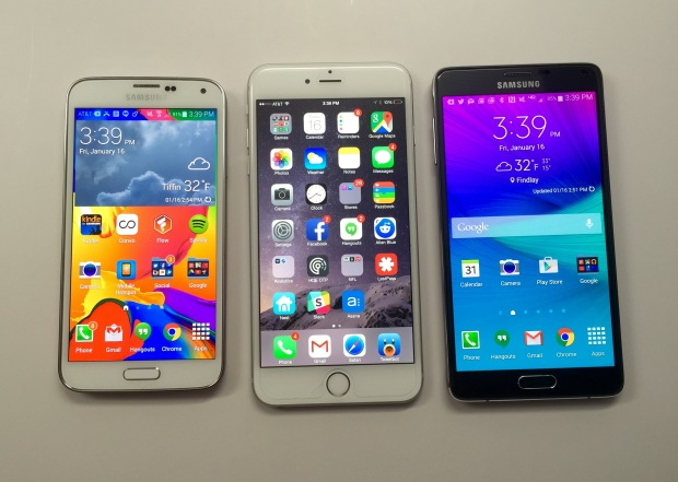 Samsung Galaxy S6 versus iPhone 6 5