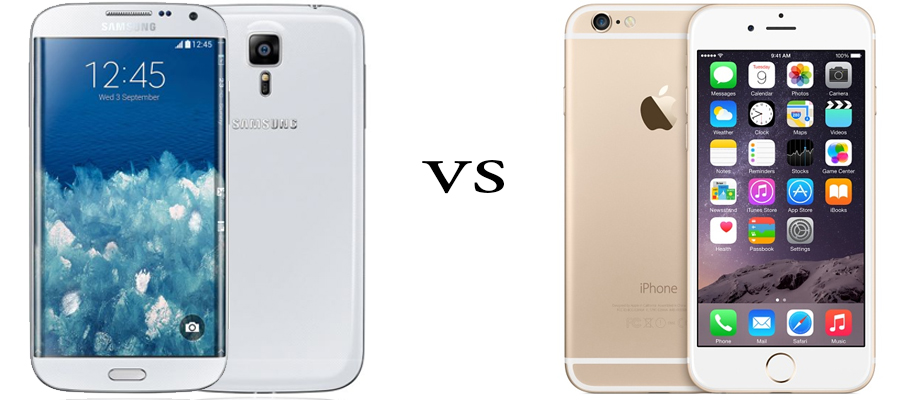 Samsung Galaxy S6 versus iPhone 6 1